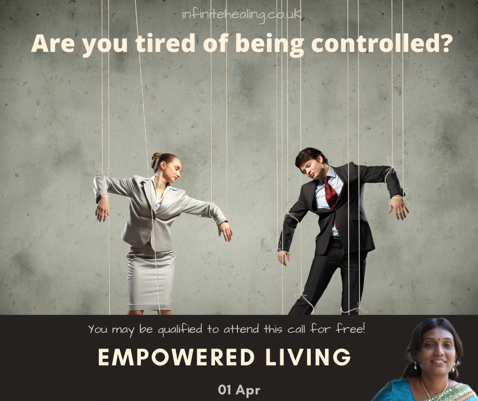 Are you tired of being controlled?